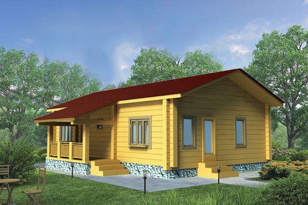 Финский каркасный дом ФЛК 107